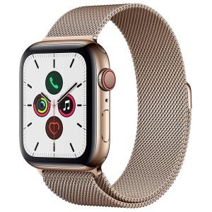 Apple Watch Series 5 Gold Stainless steel Gold Milanese loop 1
