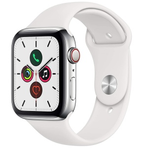 Apple Watch Series 5 Stainless steel White Sport Band 1