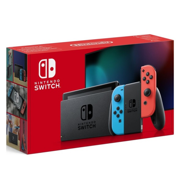 Nintendo Switch Neon Red and Blue 1