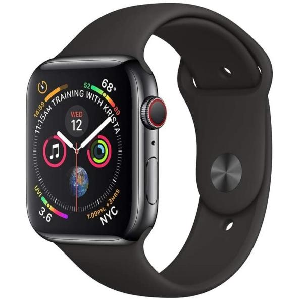 Apple Watch Series 4 Space Grey Case Black Sport Band 2