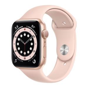 Apple Watch Series 6 Gold Aluminium Case Pink Sand Sport Band